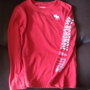Abercrombie Red Long Sleeve Boys Size 7/8